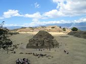 Ruins Of The Main Plaza - Monte Alban - Mexico