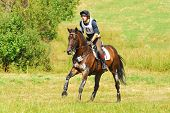 Triathlon in Russia, man horseback