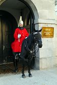 Member of the Queen's Horse Guard on duty