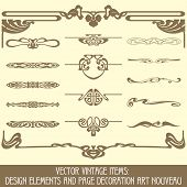 picture of art nouveau  - Vector vintage items - JPG