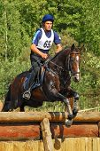 Cross-Country in Russia, horseback jumping