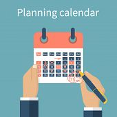 Mark Calendar. Planning poster