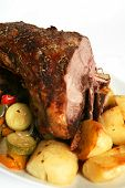 Roast Lamb And Veg