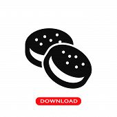 Cookies Couple Icon Vector In Modern Flat Style For Web, Graphic And Mobile Design. Cookies Couple I poster
