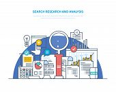 Search Research And Analysis. Problem Solving, Collecting Data, Data Analytics And Research, Statist poster