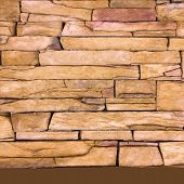 Stone Wall Texture As Background. Cracked Concrete Vintage Block Stone Wall Background, Old Painted  poster