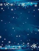 Grunge Christmas Background, Vector