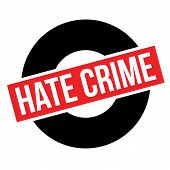Hate Crime Typographic Stamp. Typographic Sign, Badge Or Logo. poster