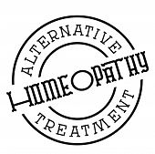 Homeopathy Typographic Stamp. Typographic Sign, Badge Or Logo poster