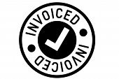 Invoiced Typographic Stamp. Typographic Sign, Badge Or Logo poster