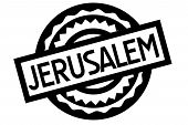 Jerusalem Typographic Stamp. Typographic Sign, Badge Or Logo poster