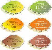 Set of autumn stickers