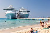 Cruise Ship Anchored In Grand Turk, Caicos Islands