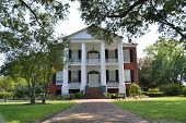 picture of natchez  - Brick sidewalk leading to the front door of a southern plantation home - JPG