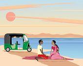 Постер, плакат: Пикник на берегу озера