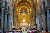 Interior Of Duomo Di Monreale, Sicily, Italy