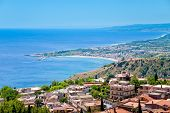 Town Taormina And Resort Gardini Naxos On Ionian Coast
