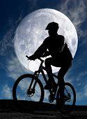 noche de ciclismo