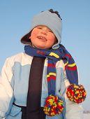 Winter portrait of a boy