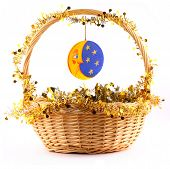 Wooden Moon Attached To The Basket