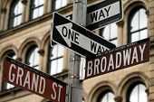 Broadway And Grand Street Signs