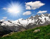 The Mischabel group - Swiss alps