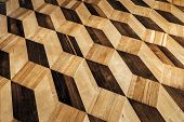Old Wooden Parquet Flooring Design poster