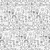 Pattern With Line Hand Drawn Doodle Lovely Background For Kid. Doodle Funny. Handmade Vector Illustr poster