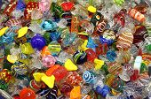 Doces de vidro de Murano veneziano