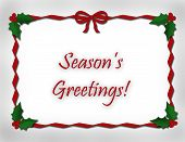 Red Ribbon Border Seasons Greetings