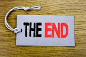 Conceptual Hand Writing Text Caption Showing The End. Business Concept For End Finish Close Written  poster