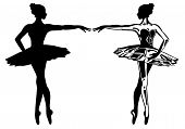 stock photo of ballet dancer  - ballerina vector illustration  - JPG