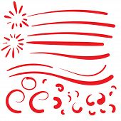 Hand Drawn Red Squiggle Swoosh Text Font Tail For Baseball Tshirt Design W Calligraphy Swirl poster
