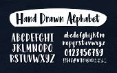 Stylish Hand Drawn English Alphabet. Collection Of Upper And Lower Case Letters Arranged In Alphabet poster