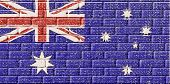 Australia Flag In Brick Textured