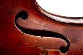 image of g-string  - Abstract detail of the old fiddle  - JPG