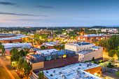 Salem, Oregon, USA downtown city skyline at dusk. poster