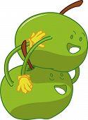 Playful Apple Cartoons Embracing