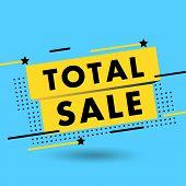Sale Banner Vector Illustration. Discounts And Promotional Mega Sale Offers Design Template. Promoti poster