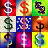 Dollar Signs Pop Stars