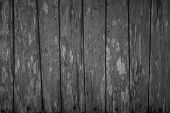 Wood Plank Black Texture Background. Wooden Wall All Antique Cracking Furniture Painted Weathered Wh poster