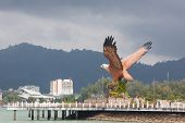 Eagle Square And Ferry Jetty On Langkawi Island , Malaysia poster