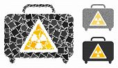 Dangerous Luggage Mosaic Of Unequal Pieces In Variable Sizes And Shades, Based On Dangerous Luggage  poster