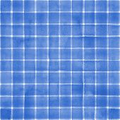 Watercolor Stripe Plaid Seamless Pattern. Blue Stripes On White Background. Watercolour Hand Drawn S poster