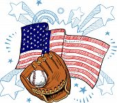 American baseball illustration