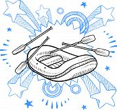 Whitewater rafting sketch