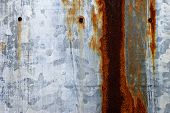 Rusty Tin Metal Surface Wall Background