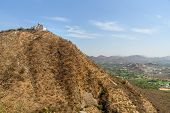Monsoon Palace Or Sajjan Garh Palace On The Hill In Udaipur. Rajasthan. India poster