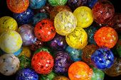 Multi Colored Blown Glass Balls