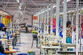 Textile factory in Africa Botswana poster